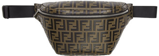 Fendi Black and Brown Forever Belt Bag