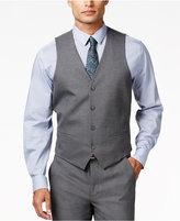 Alfani Men's Traveler Grey Solid Slim-Fit Vest, Only at Macy's