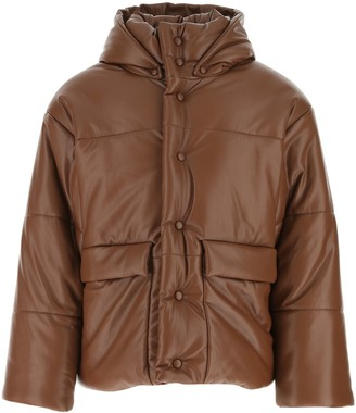 Nanushka Faux Leather Padded Jacket