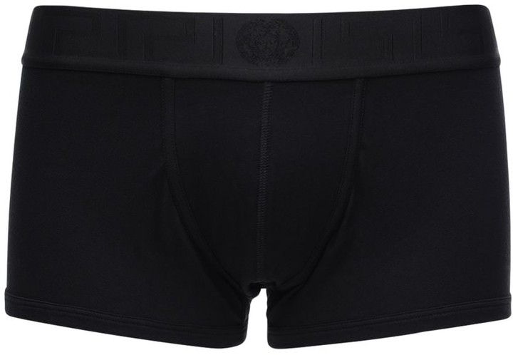 Black//gold Versace 2-Pack Iconic Low-Rise Men/'s Boxer Trunks