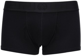 Versace Underwear Stretch Cotton Low Boxer Briefs