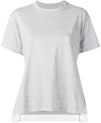 Sacai side pleats T-shirt