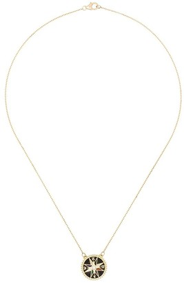 Foundrae 18kt gold diamond Compass necklace