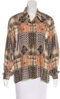 Bogner Abstract Print Button-Up Top
