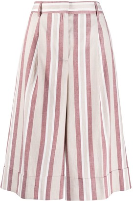 Incotex Striped-Pattern Cropped Trousers