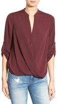 Lush Twist Front Woven Shirt