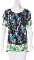 Thakoon Printed Short Sleeve Top