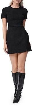 French Connection Patty Faux Suede Mini Dress