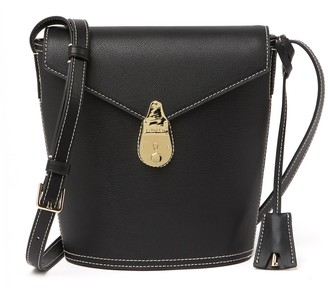 Calvin Klein Statement Series Lock Leather Crossbody Bag
