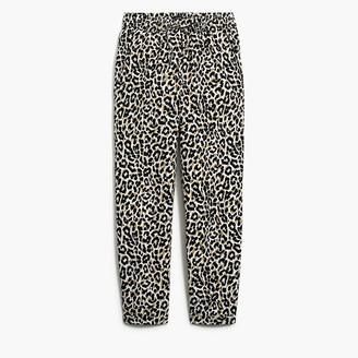 J.Crew Leopard-print linen-cotton drawstring pant