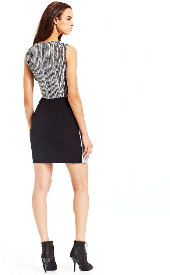 Rachel Roy Striped Solid Dress