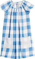 Tucker + Tate Spring Time Gingham Check Flutter Sleeve Dress