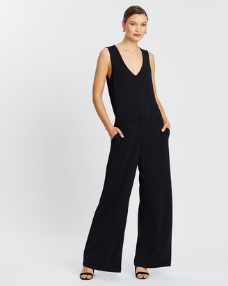 Banana Republic Sleeveless Matte Jersey Jumpsuit