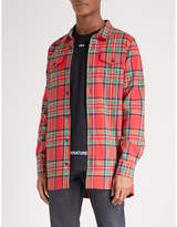 Off-White Checked oversized cotton-blend shirt