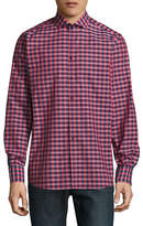Bruun And Stengade Long Sleeve Modern Omrani Check Shirt