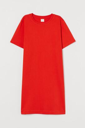 H&M Cotton T-shirt Dress - Orange