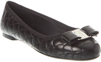 Salvatore Ferragamo Varina Quilted Leather Ballet Flat