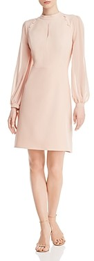 nanette Nanette Lepore Mock Neck Keyhole Dress