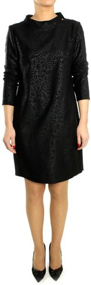 Kocca Black Polyester Long Sleeve Dress - S - Black