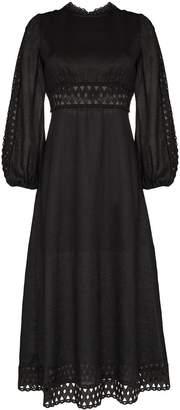 Zimmermann Verity broderie anglaise midi-dress