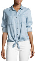 7 For All Mankind Tie-Front Denim Shirt
