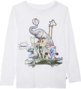 Stella McCartney Barley animal collage cotton top 4-14 years