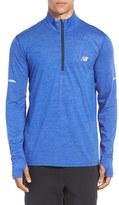 New Balance Men's Athletic Quarter Zip Running Jacket