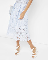Ted Baker Floral lace applique midi skirt