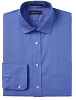 Classic Men's Solid No Iron Supima Pinpoint Spread Collar-True Navy