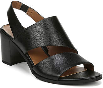 Franco Sarto Women's Sandals BLACK - Black Henna Leather Sandal - Women