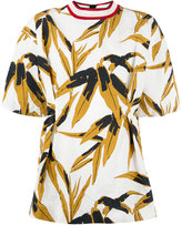 Marni Swash print top - women - Silk/Cotton/Linen/Flax - 40