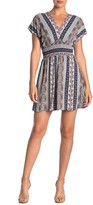 BeBop Geo Print Smocked Mini Dress