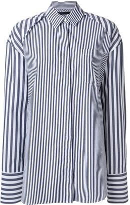 Juun.J Oversized Multi-Stripe Shirt