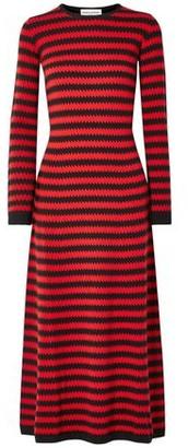 Sonia Rykiel Striped Cashmere Midi Dress