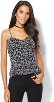 New York & Co. 7th Avenue - Chiffon-Overlay Camisole - Print