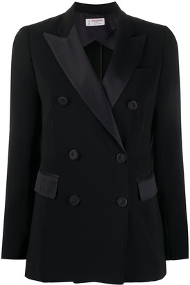 Alberto Biani Double-Breasted Tuxedo Blazer