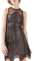 Topshop Women's Wavy Lace Minidress