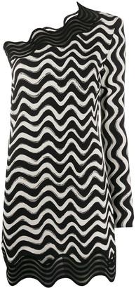 Stella McCartney Swirl One-Shoulder Dress