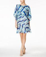 Calvin Klein Chiffon Printed Kimono Dress