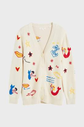 Parker Chinti & Cream Mermaid Chunky Knit Cardigan