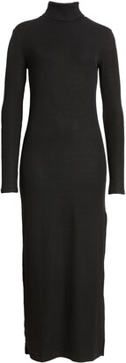 Ninety Percent Rib Turtleneck Long Sleeve Dress