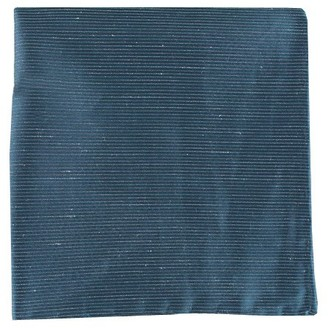 Tie Bar Fountain Solid Navy Pocket Square