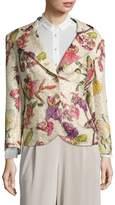 Escada Women's Besima Floral-Print Two-Button Jacket