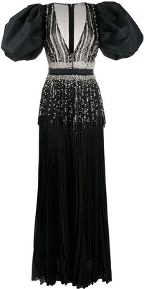 Elisabetta Franchi Crystal-Embellished Long Dress