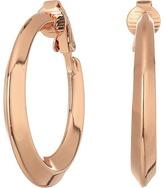 Lauren Ralph Lauren Mix Master Knife Edge Gold Clip Hoop Earrings