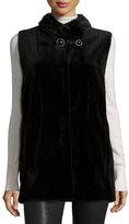 Gorski Sheared Mink Vest W/Collar, Black