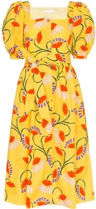 Borgo de Nor Floral Print Midi-Dress