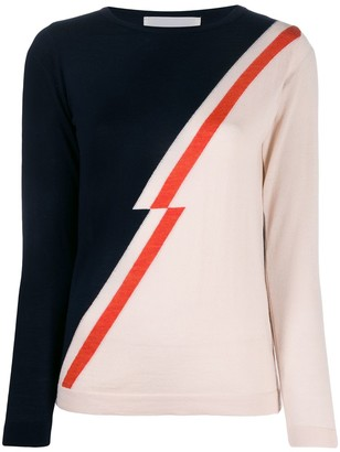 Chiara Bertani Jagged Diagonal-Panel Sweater