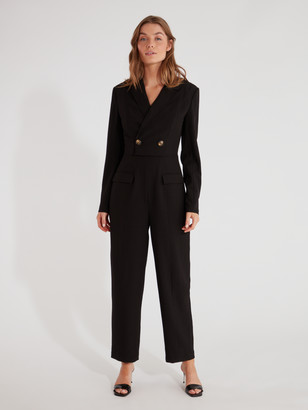 C/Meo Collective Accepting Long Sleeve Double Breasted Jumpsuit
