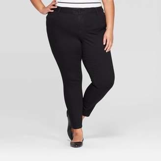 Ava & Viv Women's Plus Size Jeggings with Comfort Elastic Waist - Ava & VivTM Black